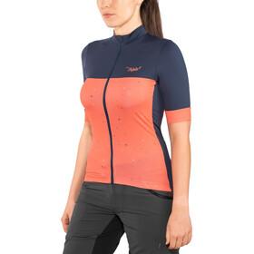 Triple2 Velozip Performance Bike Jersey Shortsleeve Women Jersey Women red/blue